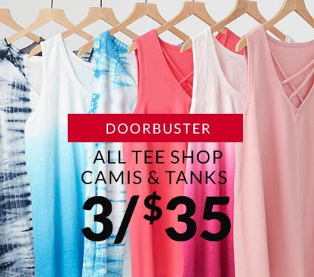All Tee Shop Camis & Tanks 3 for $35