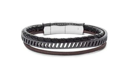 Vintage Casual Multi-Strand Black Leather Bracelet