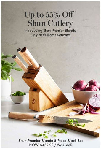 Up to 55% Off Shun Cutlery from Williams-Sonoma