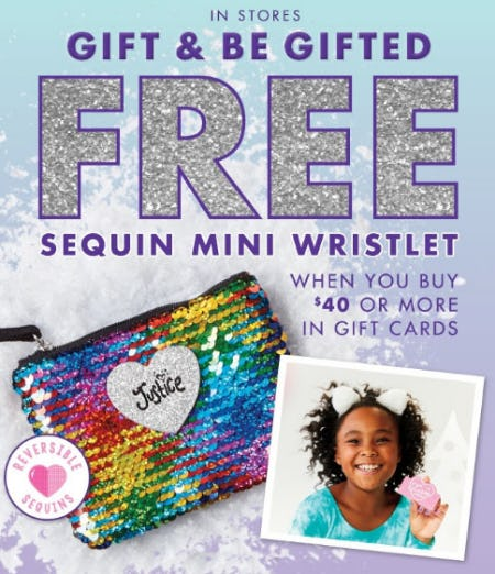 Free Sequin Mini Wristlet with $40 or More Purchase