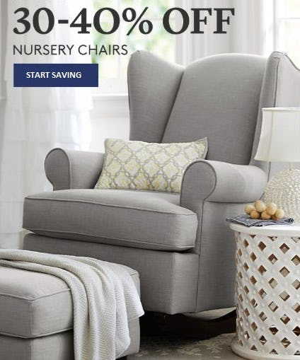 30–40% Off Nursery Chairs from Pottery Barn Kids