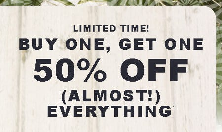 Buy One, Get One 50% Off Everything from Hollister Co.