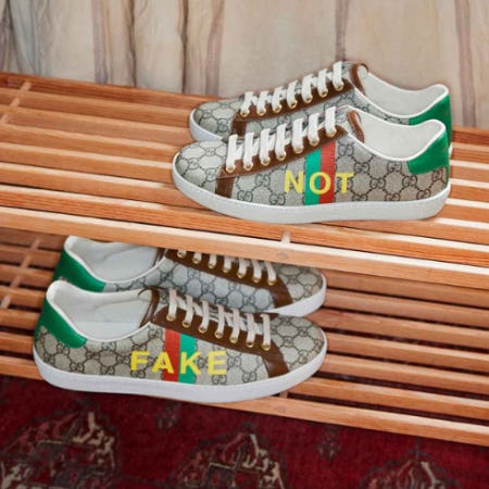 The New Ace Sneaker Fake/Not from Gucci