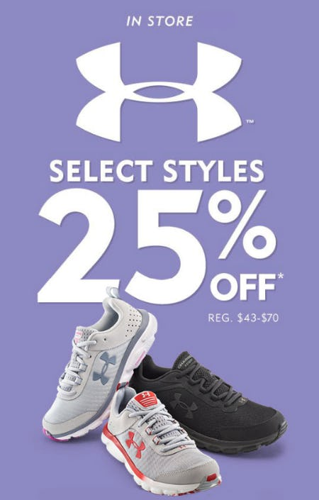 25% Off Under Armour from Shoe Carnival