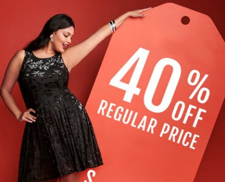 40% Off Regular Price from Torrid
