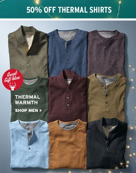 50% Off Thermal Shirts from Eddie Bauer