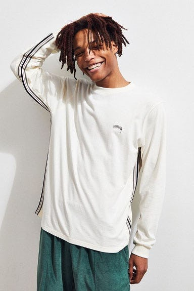 Stussy Racer Stripe Long Sleeve Tee
