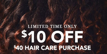 $10 Off $40 Hair Care Purchase from Sally Beauty Supply