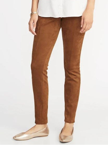 Stevie Faux-Suede Ponte-Knit Pants for Women