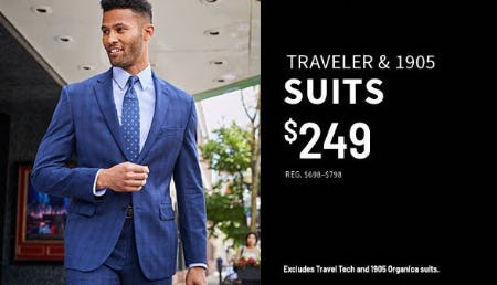 Traveler & 1905 Suits $249 from Jos. A. Bank