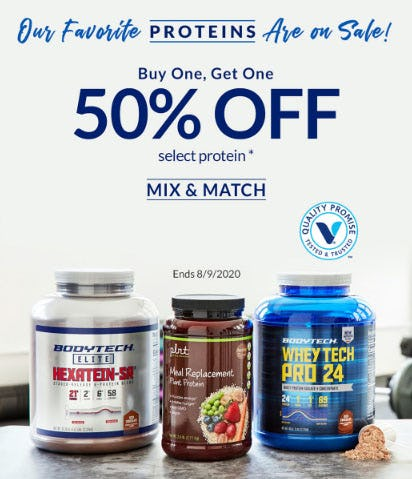 BOGO 50% Off Select Protein from The Vitamin Shoppe