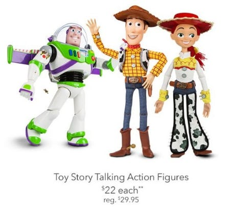 $22 Each Toy Story Talking Action Figures from Disney Store