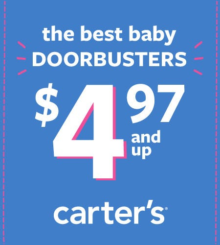 The Best Baby Doorbusters $4.97 and Up from Carter's