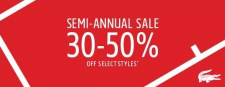 Semi-annual Sale from Lacoste