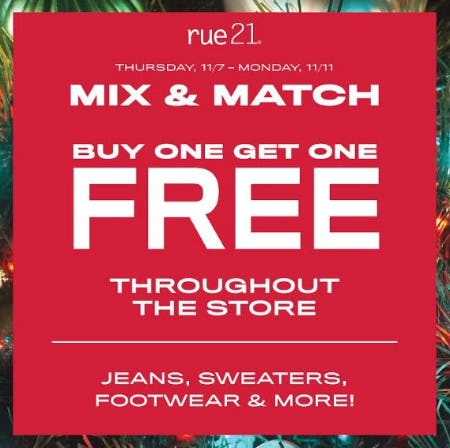 BOGO FREE EVENT from rue21