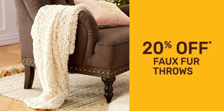 20% Off Faux Fur Throws from Pier 1 Imports