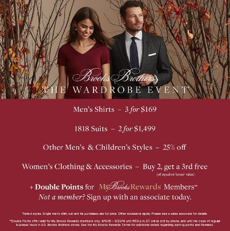 Wardrobe Event from Brooks Brothers