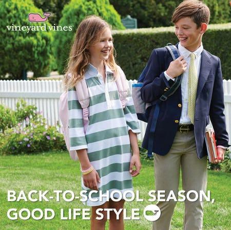 Back-To-School Season, Good Life Style from Vineyard Vines