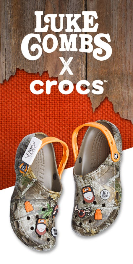 Luke Combs X Crocs Available Now from Rack Room Shoes