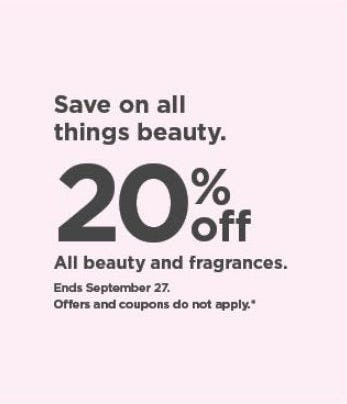 20% Off All Beauty and Fragrances from Kohl's