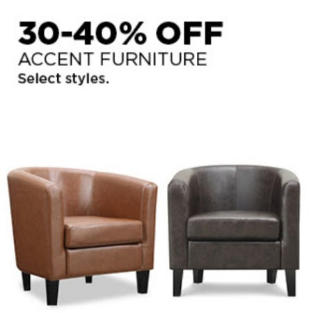 30-40% Off Accent Furniture from Kohl's
