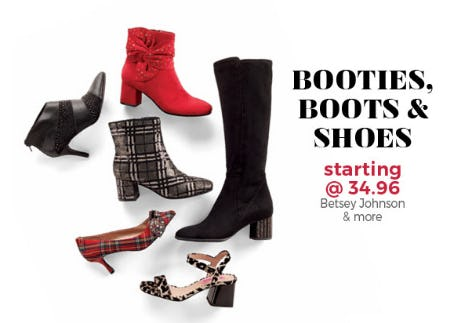 Booties, Boots & Shoes Starting at $34.96 from Stein Mart