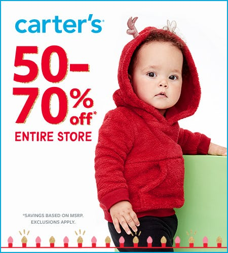 Oh What Fun! Gift Sale 50-70% Off from Carter's