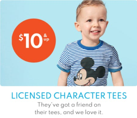 $10 & Up Licensed Character Tees from Carter's