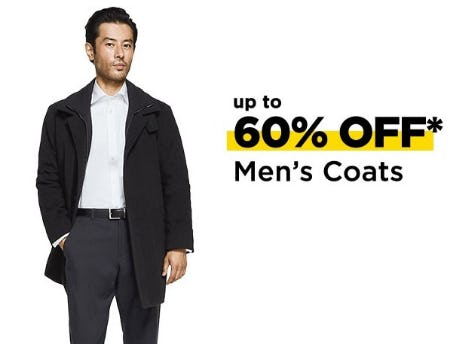 Up to 60% Off Men's Coats from Lord & Taylor