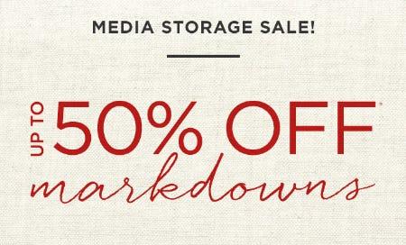 Media Storage Sale from West Elm