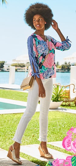 Hey Hey Bouquet Print from Lilly Pulitzer