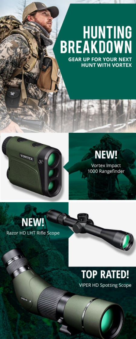 Hunt with Premium Optics by Vortex from Cabela's