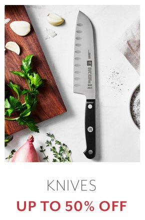 Knives Up to 50% Off from Sur La Table