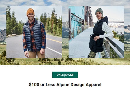 $100 or Less Alpine Design Apparel from Dick's Sporting Goods