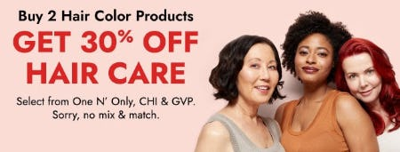 Buy 2 Hair Color Products, Get 30% Off Hair Care from Sally Beauty Supply