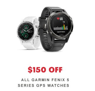 $150 Off All Garmin Fenix 5 Series GPS Watches from REI