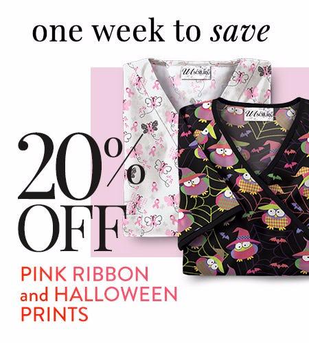 20% Off Pink Ribbon & Halloween Prints!