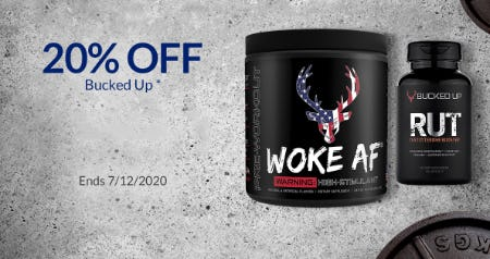 20% Off Bucked Up from The Vitamin Shoppe