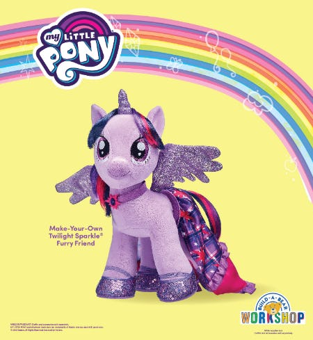 My Little Pony Fans! Twilight Sparkle Is Back at Build-A-Bear Workshop!® from Build-A-Bear Workshop
