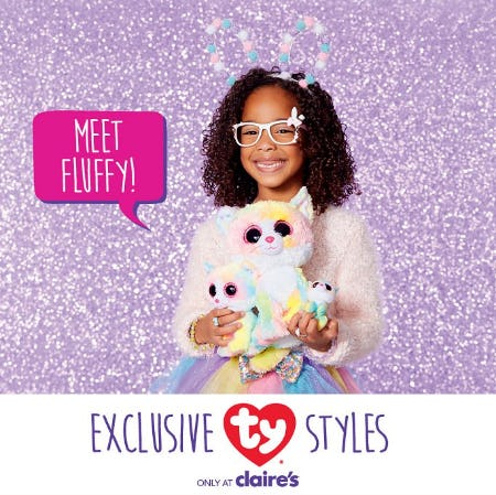 Meet TY Fluffy! from Claire's