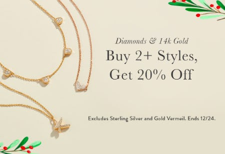 Buy 2+ Styles, Get 20% Off on Diamonds & 14k Gold from Kendra Scott