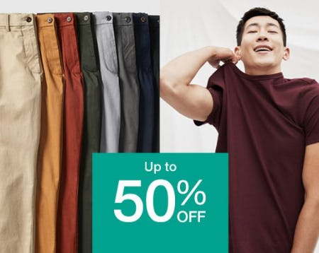 Up to 50% Off Select Merchandise from Gap