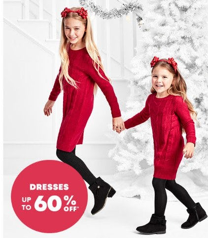 Dresses up to 60% Off from The Children's Place