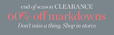 60% Off End of Season Clearance from Talbots