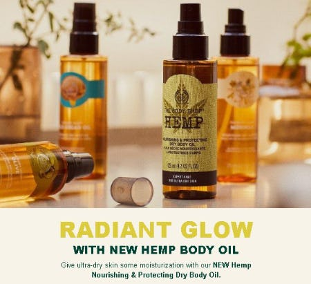 New Hemp Body Oil Has Arrived from The Body Shop