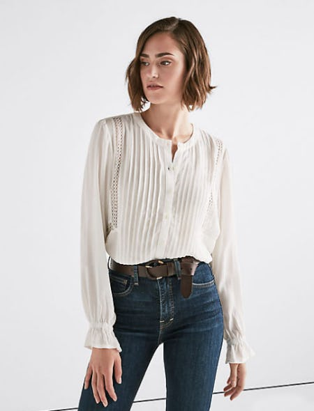 Parisian Peasant Top from Lucky Brand Jeans