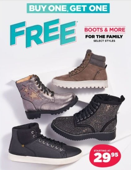BOGO Free Boots & More for the Family from Rack Room Shoes