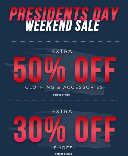 30-50% Off Presidents Day Weekend Sale from Tillys