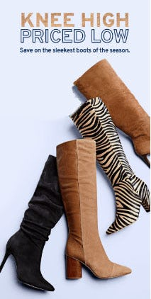 Knee High Boots, Priced Low from Marshalls