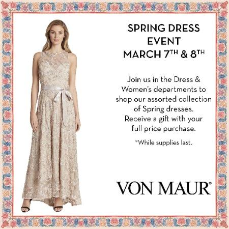 Spring Dress Event from Von Maur